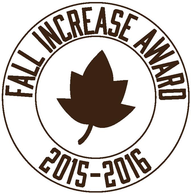 Texas PTA Fall Increase Award 2015-2016